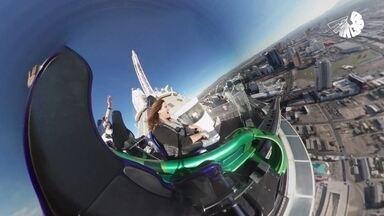 Fant360: experiência mostra Las Vegas, a cidade do pecado, das alturas - Renata Ceribelli encara atividades radicais, voa de helicóptero pelos paredões do Grand Canyon e mostra tudo com tecnologia de gravação em 360°.