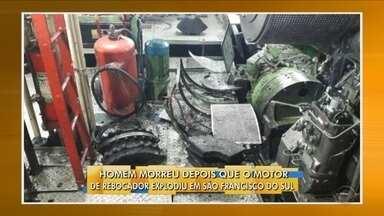 Trabalhador morre após explosão no Porto de São Francisco do Sul - Trabalhador morre após explosão no Porto de São Francisco do Sul