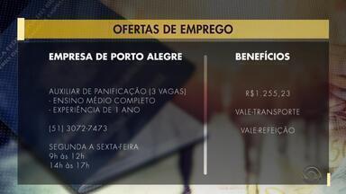 Empregos: empresa de Porto Alegre tem vagas para auxiliar de panificação - Veja mais detalhes.