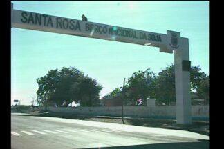 Pórtico de Santa Rosa, RS, está funcionando - Assunto do quadro Promessa é Dívida.