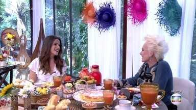 Ana Maria recebe Ingrid Guimarães na Casa de Cristal - Ela conversam sobre Elvira, personagem da Ingrid em 'Novo Mundo'