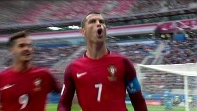 Cristiano Ronaldo brilha em campo e fora dele na primeira fase da Copa das Confederações - Craque português foi eleito melhor jogador das três partidas que disputou até o momento.