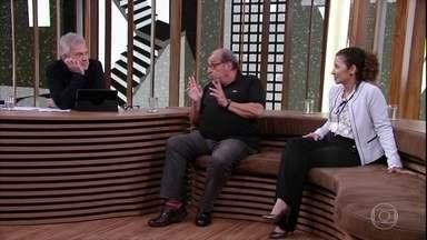 Bial, Ruy Castro e Jaira Freixiela Adamczyk conversam sobre o AA - O jornalista conta como alcançou a sobriedade e a presidente do AA no Brasil fala sobre a importância do trabalho do Alcoólicos Anônimos
