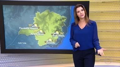 Friagem continua principalmente durante as madrugadas em Minas Gerais - Imagens do satélite mostram que a circulação dos ventos ainda influencia o tempo.