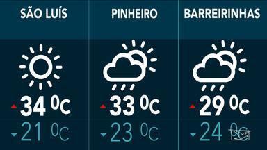Veja a previsão do tempo para esta quinta-feira (29) em todo o Maranhão - Veja a previsão do tempo para esta quinta-feira (29) em todo o Maranhão
