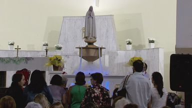 Imagem de Nossa Senhora de Fátima continua com peregrinação na região - Ela ficará, até sexta-feira, na Igreja São Judas Tadeu