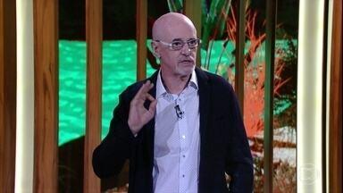 Marcos Caruso abre o conversa com Bial falando sobre arte contemporânea - Ator ressalta a existência de grandes artistas no Brasil e apresenta os artistas plásticos Beatriz Milhazes e Vik Muniz