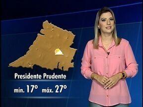 Tempo deve continuar seco no Oeste Paulista - Veja como fica a temperatura em algumas cidades.