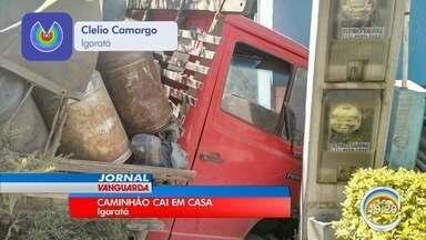 Acidente em Igaratá deixa um ferido - Imagens foram enviadas por telespectadores pelo app Vanguarda Repórter.