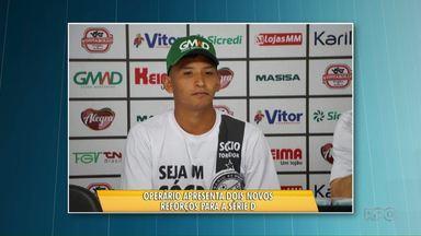 Operário apresenta dois novos reforços pra série D - O Fantasma joga este domingo contra o Desportiva, do Espírito Santo. Tem ingresso promocional pra esta partida.