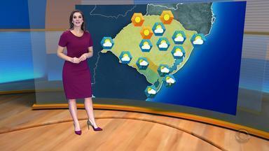 Tempo: RS terá pancadas de chuva nesta quarta-feira (12) - Norte do estado deve registrar sol.