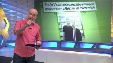 Goleiro Paulo Victor reincide contrato com Flamengo e assina com o Grêmio - Paulo Victor assina rescisão e viaja para assinar com o Grêmio; Fla mantém 50% no campeonato brasileiro.