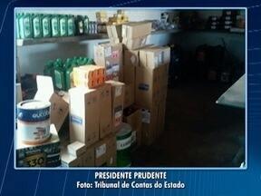 TCE realiza série de fiscalizações no Oeste Paulista - Situação de armazenamento de materiais foi verificada.