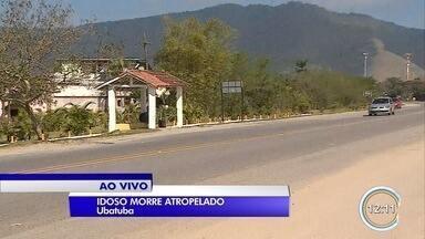 Idoso morre após ser atropelado por motorista embriagado em Ubatuba - Vítima havia descido de ônibus, quando foi atingida por carro. Motorista passou por teste do bafômetro que constatou embriaguez ao volante.