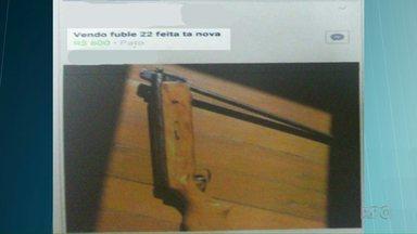 Homem é preso após postar foto de arma em rede social - Caso foi registrado em Pato Branco.