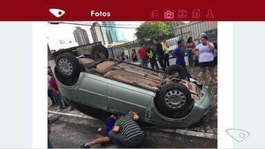 Três carros se envolvem em acidente na Rodovia do Sol, no ES - Acidente aconteceu em Itaparica, na manhã desta sexta-feira (14).