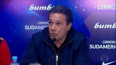 Vanderlei Luxemburgo dá entrevista em espanhol após Sport avançar na Sul-Americana - Vanderlei Luxemburgo dá entrevista em espanhol após Sport avançar na Sul-Americana