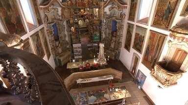 Veja como ficou restauração de basílica do Santuário do Bom Jesus de Matosinhos - Desde a semana passada, Terra de Minas exibe série de reportagens que mostram obras de restauração de parte do patrimônio de Minas.