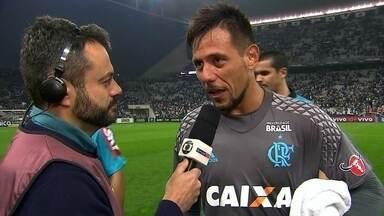"""""""Gostinho um pouco amargo, mas feliz"""", diz Diego Alves - """"Gostinho um pouco amargo, mas feliz"""", diz Diego Alves"""