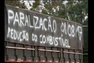 Protestos mobilizam categorias nesta terça-feira (1/8) - Manifestantes são contrários ao aumento no preço do combustível.