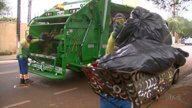 Prefeitura de Maringá retoma a coleta de lixo na cidade - Em algumas regiões da cidade o lixo estava acumulado