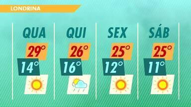 Tem previsão de chuva para esta quinta-feira - A frente fria que está chegando ao Paraná deve trazer chuva para os dois próximos dias.