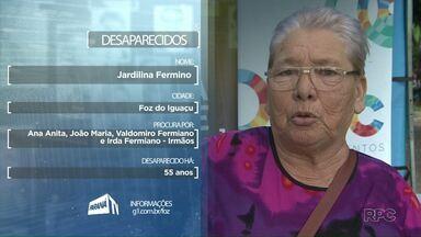 Quadro Desaparecidos: Dona Jardilina procura pelo irmãos - Quaisquer informações podem ser repassadas para os contatos da RPC.
