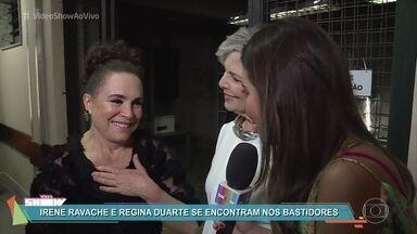 Regina Duarte faz participação em 'Pega Pega' - Confira os bastidores de gravação da cena em que a atriz participa da festa de Sabine como ela mesma