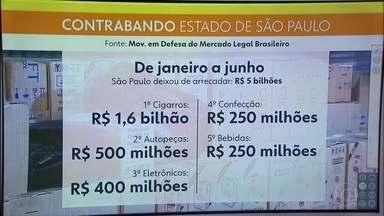 Entidades se reúnem para discutir a falsificação no estado de São Paulo - Só no primeiro semestre deste ano, o estado deixou de arrecadar R$ 5 bilhões.