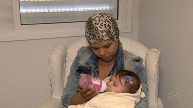 Agente de trânsito faz campanha para conseguir doador de medula, em Goiânia - Eva Maria Barbosa, de 29 anos, foi diagnosticada com leucemia há pouco mais de um mês, quando se recuperava do parto da filha.