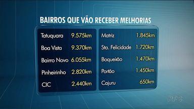 R$ 30 milhões serão investidos em melhorias nas ruas de Curitiba - O dinheiro veio de um convênio com o governo do estado.