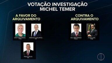 Deputados federais votam pelo arquivamento das denúncias contra Michel Temer - Assista a seguir.