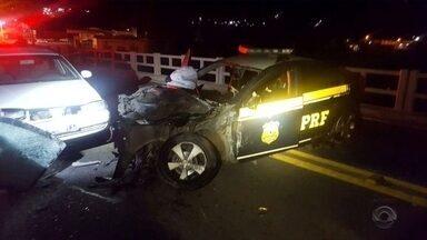 Motorista é preso após se envolver em acidentes na BR-280 e furtar viatura da PRF - Motorista é preso após se envolver em acidentes na BR-280 e furtar viatura da PRF