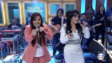 Maiara e Maraisa cantam 'Sorte que Cê Beija Bem' - Dupla apresenta nova música de trabalho no 'Encontro'