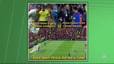 Vitória: gol de Neílton contra o Flamengo vira meme nas redes sociais - Confira as notícias do rubro-negro baiano.