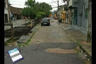 Calendário JL voltou a Travessa Nina Ribeiro no bairro de Canudos - A Prefeitura informou que já elaborou projeto para recuperação do canal da travessa.