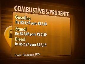 Preços dos combustíveis continuam subindo no Oeste Paulista - Em algumas cidades ainda é possível ver valores mais baixos do que em Presidente Prudente.
