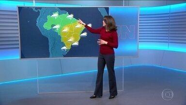 Confira a previsão do tempo para a sexta-feira (11) em todo o país - Tempo seco em grande parte do país, principalmente: Centro-Oeste, sertão nordestino, Minas Gerais, interior de São Paulo.