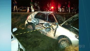 Uma pessoa morreu em acidente na PR-151, em São João do Triunfo - Três pessoas ficaram feridas.