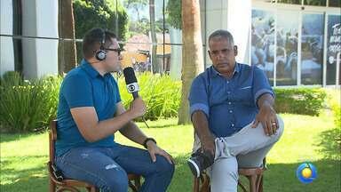 Ademir Fonseca participa ao vivo do Globo Esporte e pede o apoio da torcida do Belo - Treinador quer torcida incentivando o time para acabar com a má fase na Série C
