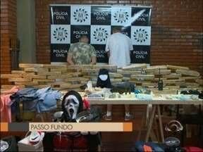 Oito pessoas são presas por tráfico e roubo em Passo Fundo, RS - Duas ações da polícia resultaram na prisão das quadrilhas