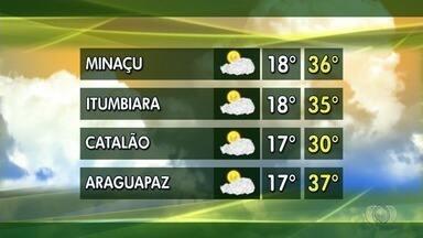 Confira a previsão do tempo para esta semana em Goiás - Estiagem no estado deixa reservatórios de água em níveis baixos.