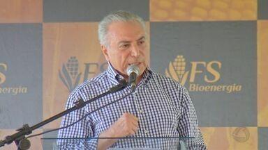 Michel Temer participa de inauguração de usina em Lucas do Rio Verde - Michel Temer participa de inauguração de usina em Lucas do Rio Verde.