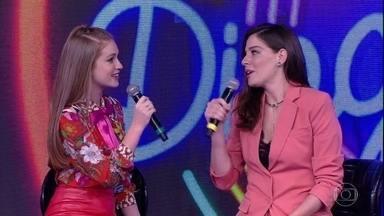 Marina Ruy BarbosaeLuma Costa acertam a primeira música do 'Ding Dong' - Dupla marca o primeiro ponto do jogo