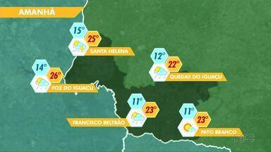 Deve chover nos próximos dias na região - Veja a previsão no mapa.