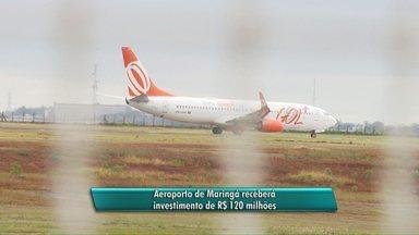 Aeroporto de Maringá receberá investimento de R$ 120 milhões - O prazo para a execução da obra é de até um ano e meio.