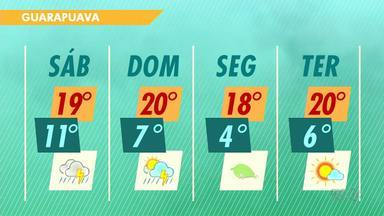 A previsão é de chuva para o final de semana na região - Na segunda-feira vai esfriar.