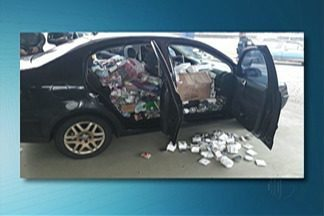 Polícia Rodoviária Federal apreende mercadorias ilegais em Santa Isabel - Carga foi avaliada em R$ 20 mil.