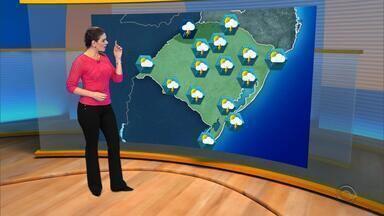 Tempo: pancadas de chuva devem atingir o RS no sábado (19) - Assista ao vídeo.