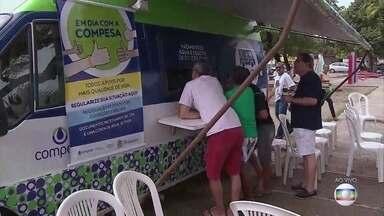 Mutirão oferece oportunidade de negociação de dívidas com a Compesa - Praça Mauricéia recebe também programação cultural e serviços de saúde gratuitos.